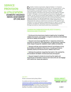 Factsheet: Service Provision and Utilization (DV Landscape Report)