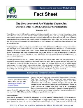 Fact Sheet: The Consumer and Fuel Retailer Choice Act