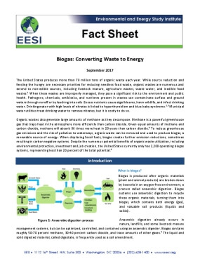 Fact Sheet: Biogas—Converting Waste to Energy