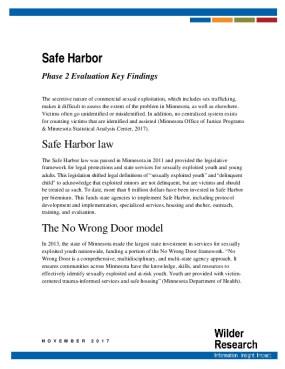 Safe Harbor: Phase 2 Evaluation Key Findings